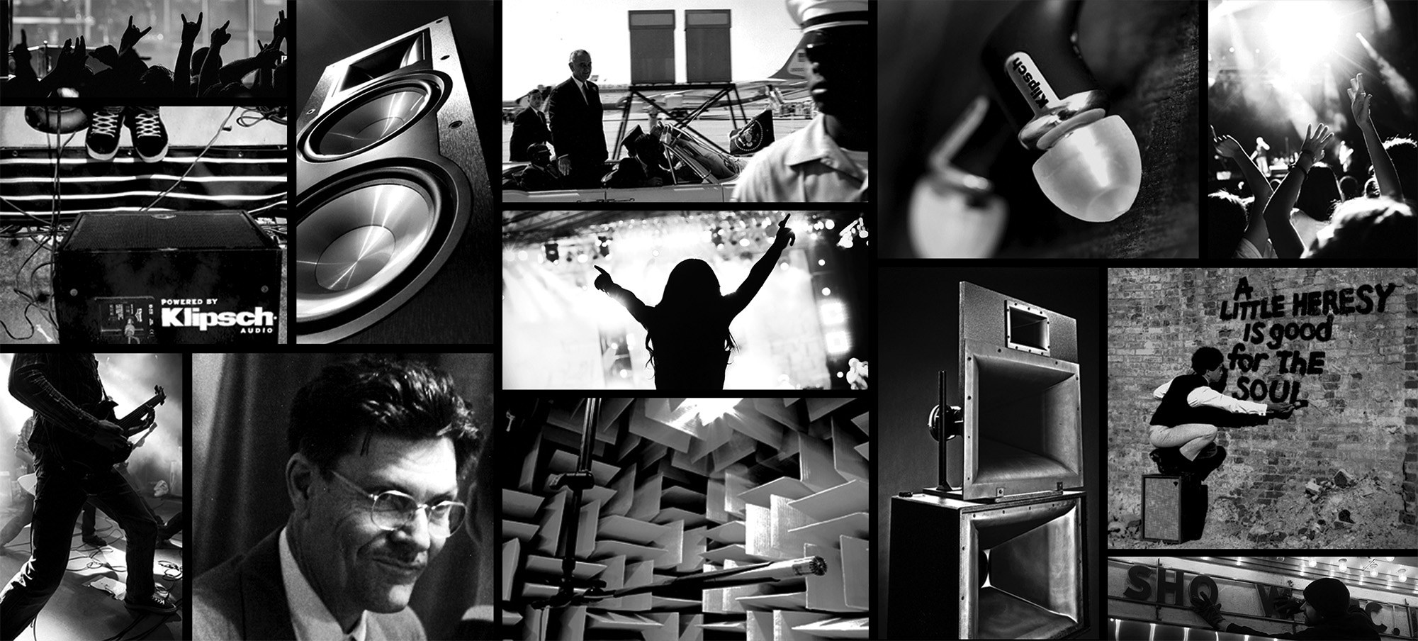 Klipsch  Brand  Collage 2001x994