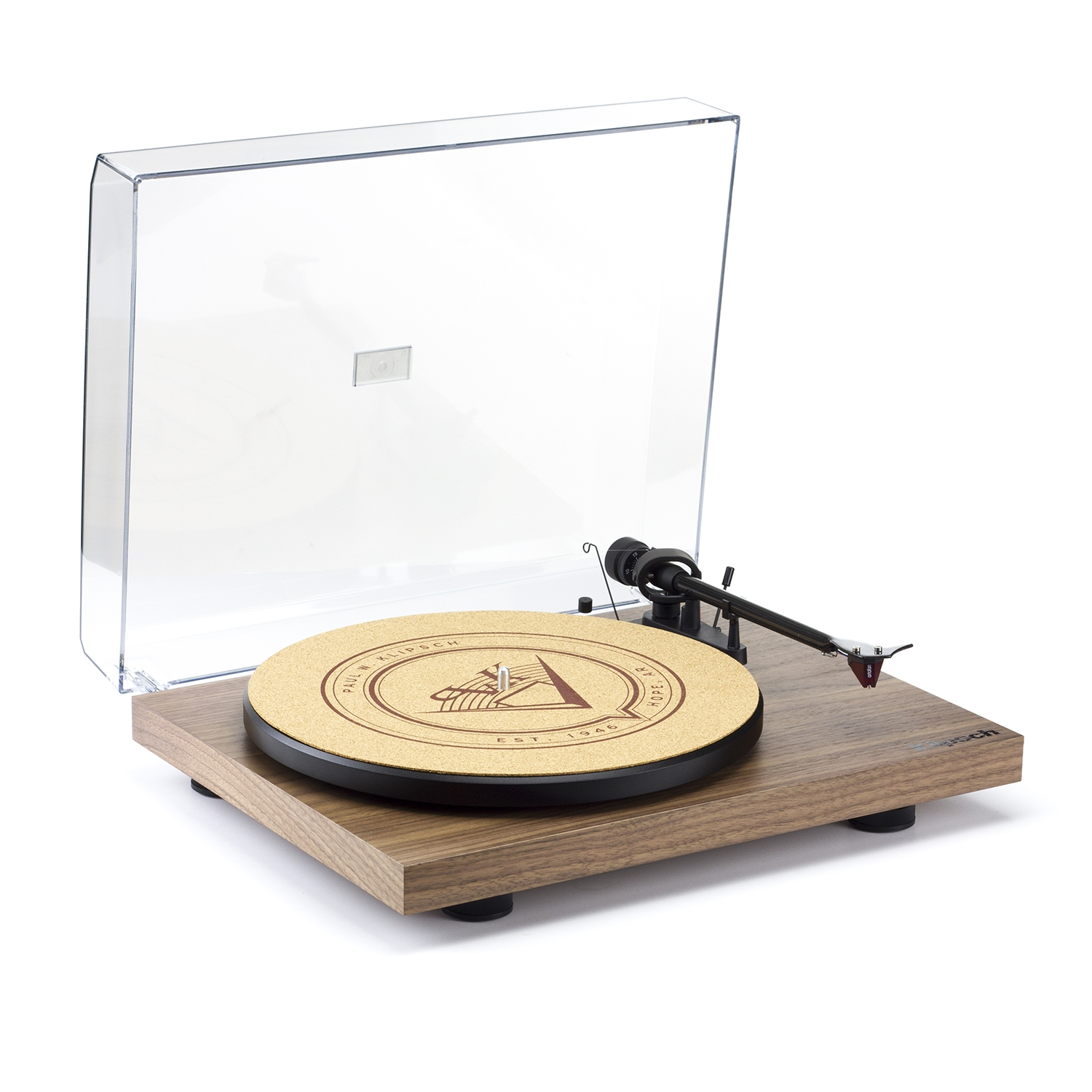Klipsch Debut Carbon Walnut Turntable Open