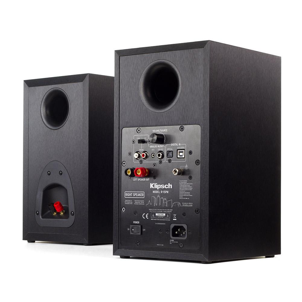 r 15pm powered monitor speakers bluetooth vinyl ready klipsch. Black Bedroom Furniture Sets. Home Design Ideas